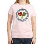 Part of my Heart is at Home Women's Pink T-Shirt