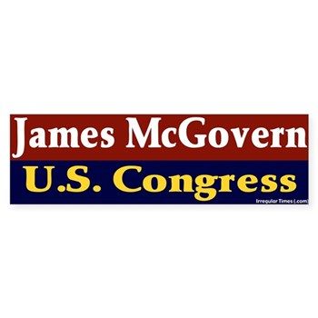 James McGovern for U.S. Congress bumper sticker