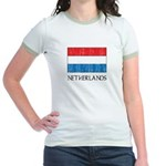 Netherlands Flag Jr. Ringer T-Shirt