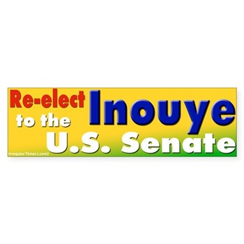 Re-Elect Dan Inouye Bumper Sticker