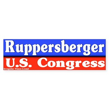 Dutch Ruppersberger for Congress bumper sticker (congressional campaign decal)