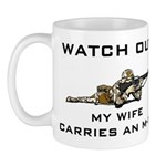 Military Husband - My Wife carries an M-16 Mug