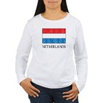 Netherlands Flag Women's Long Sleeve T-Shirt