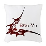 Bite Me Woven Throw Pillow