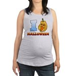 I Love Halloween Maternity Tank Top