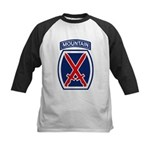 10th Mountain Division Kids Baseball Jersey
