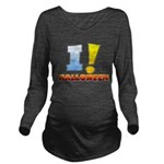 I ! Halloween Long Sleeve Maternity T-Shirt