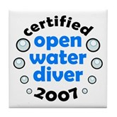 Open Water Diver 2007 Tile Coaster