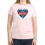 Vote Alan Keyes 2008 Political Women's Light T-Shi