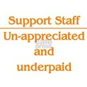 Support Staff Underpaid...... Women's T-Shirt