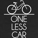 One Less Car Earth Friendly Bicycle T-Shirt