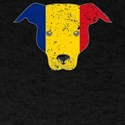 Funny Dog Romanian Flag Canine T-Shirt