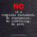 No Is Complete 2s- T-Shirt (m)