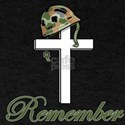 remember soldier helmet on cross T-Shirt