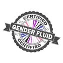 Certified Gender Fluid Stamp White T-Shirt