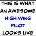 awesome high wing pilot T-Shirt