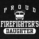 Proud Firefighter's Daughter Dark T-Shirt