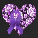 Purple Awareness Ribbon with Roses T-Shirt