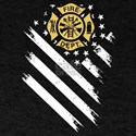 Firefighter Flag T shirt T-Shirt