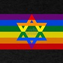 Rainbow Star of David T-Shirt