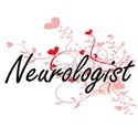 Neurologist Artistic Job Design with Heart T-Shirt