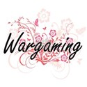 Wargaming Artistic Design with Flowers T-Shirt