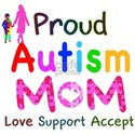 Proud Autism Mom White T-Shirt