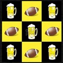 Football and Beer Black and Gold T-Shirt