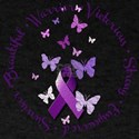 Purple Ribbon with Empowering Words T-Shirt