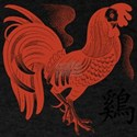 Chinese Zodiac Rooster Papercu T-Shirt
