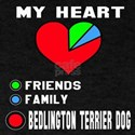 My Heart, Friends, Family, Bedlington T-Shirt