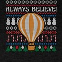 Steampunk Always Believe Hot Air Balloon Ugly Chri