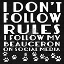 I Follow My Beauceron Dog T-Shirt