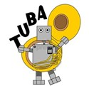 Tuba Robot Text T-Shirt
