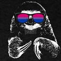 Pride Sloth Bisexual Flag Sunglasses T-Shirt