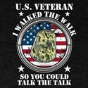 I Walked The Walk Military Veteran Retirem T-Shirt