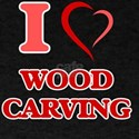 I Love Wood Carving T-Shirt