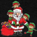 Santa Claus with Elves | Christmas Illustr T-Shirt