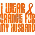I Wear Orange For My Husband 16 White T-Shirt