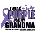 Alzheimers Purple For My Gran White T-Shirt