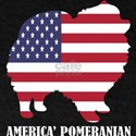 American Pomeranian Dog Flag Memorial Day T-Shirt