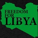 Freedom for Libya ( Libya map T-Shirt