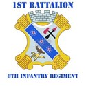 DUI - 1st Bn - 8th Infantry Regt with Text Women's