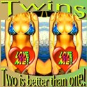 Twins Two Is Better Women's Classic White T-Shirt