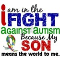 In The Fight 2 Autism White T-Shirt