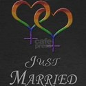Just Married - Hearts - Lesbian Pride - Dark