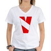 Scuba Flag Letter V Women's V-Neck T-Shirt