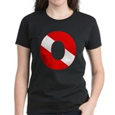 Scuba Flag Letter O Women's Dark T-Shirt