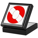 Scuba Flag Letter O Keepsake Box
