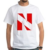 Scuba Flag Letter N White T-Shirt